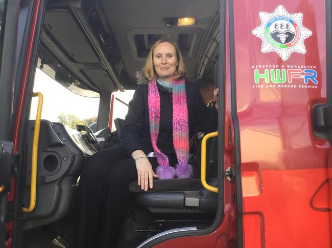 Mrs Stead got on the Fire Engine (and off again!)