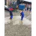 We had great fun jumping in puddles!