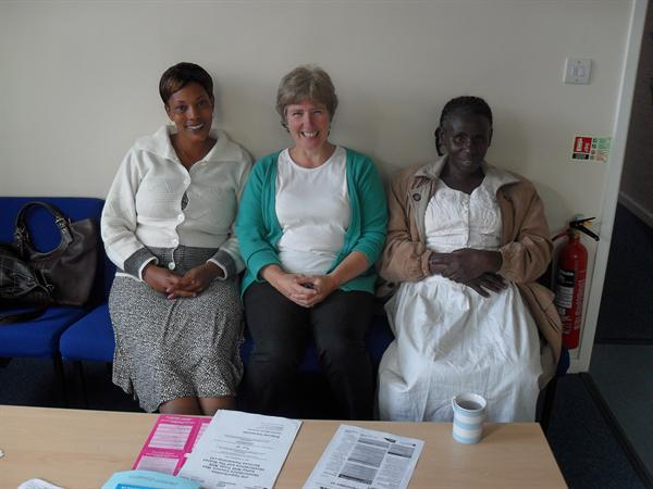 Mrs Brandrick and our Tanzanian visitors