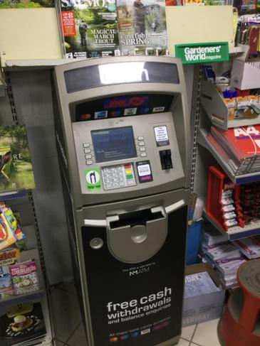 A cash machine can give people money.