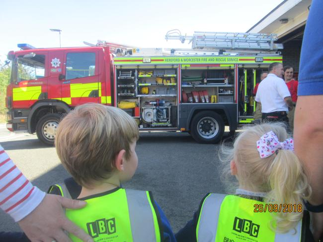 We had a visit to the fire station.