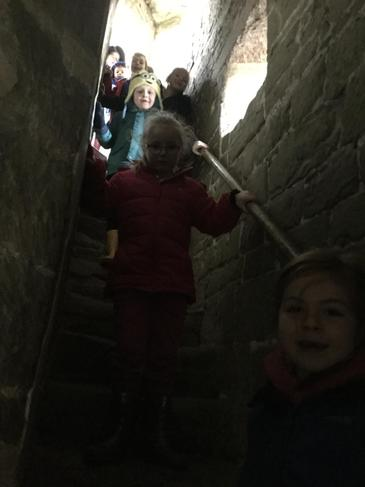 The stairs were dark, winding and uneven