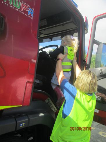 We had a turn in the fire engine.