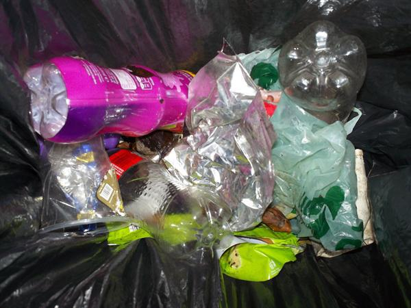 The plastic bottles could be recycled.