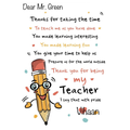 To Mr Green from Vihaan