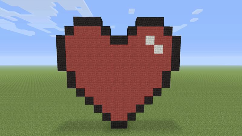 heart pixels in minecraft