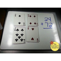 Addition with playing cards