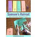 Fun with scissors - lockdown paper haircuts