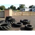 Tyres for building obstacle courses