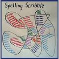 Spelling practice abstract art