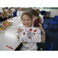 We created our own poppy art.