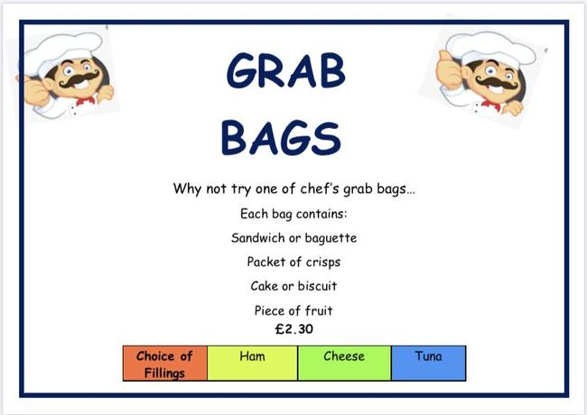 GRAB BAG MENU