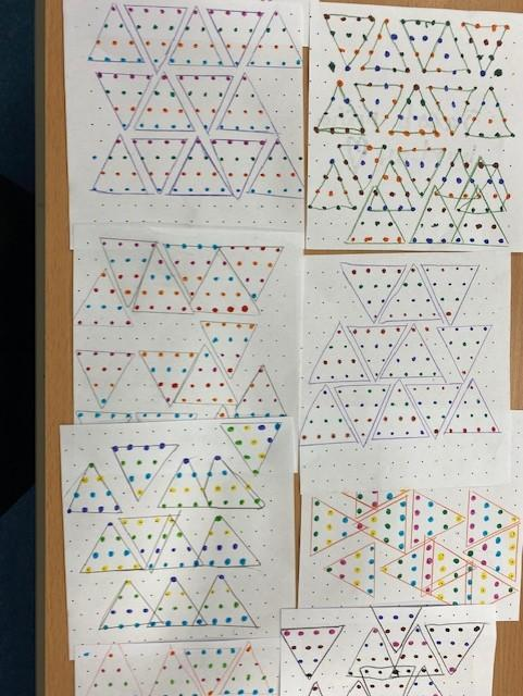 Patterns with Pythagoras's sacred triangle