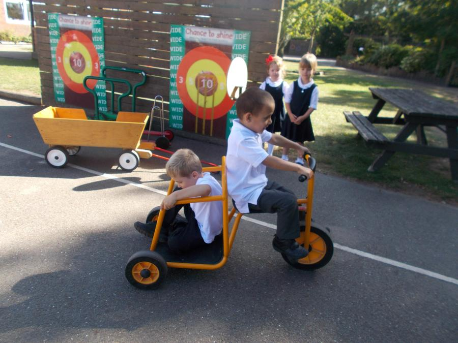 ...and pedalling
