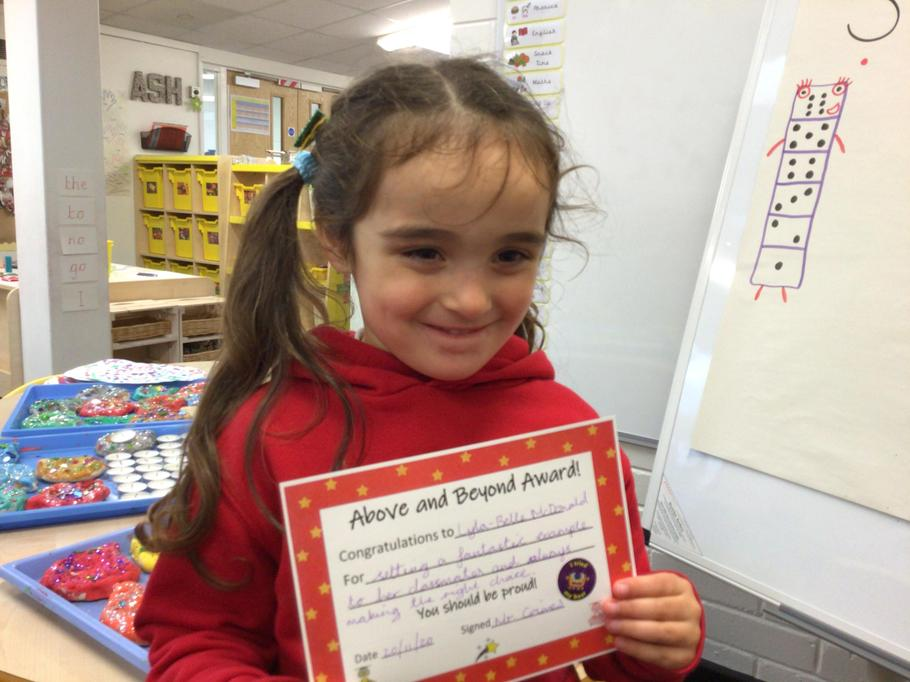 20.11.20 - Well done Lyla-Belle for setting such a fantastic example for her classmates!
