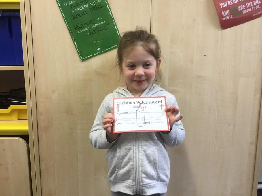 Well done Nessa for having the courage to share your fantastic ideas during carpet time!