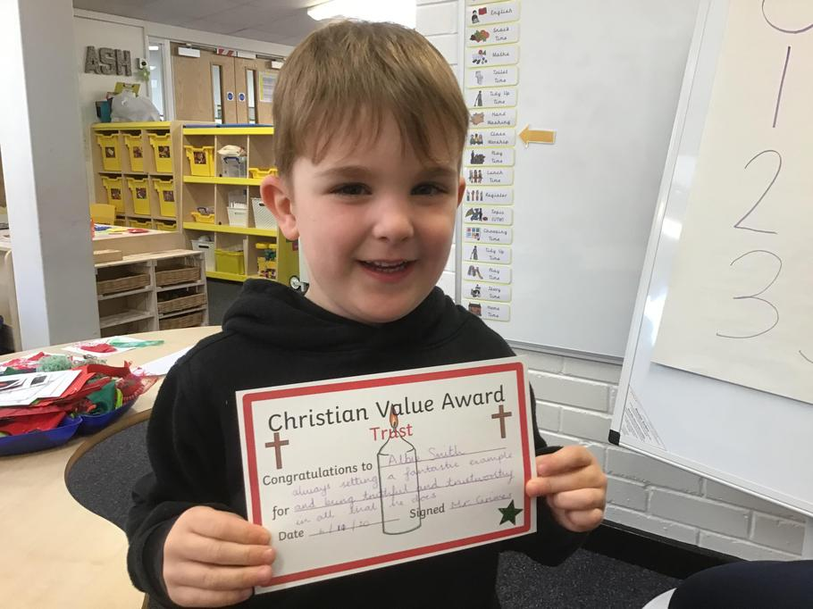06.11.20 - Well done Albie for always setting a fantastic example and being trustworthy!