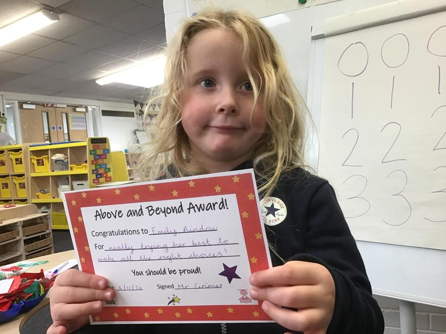 06.11.20 - Well done Emily for trying her best to make the right choices!