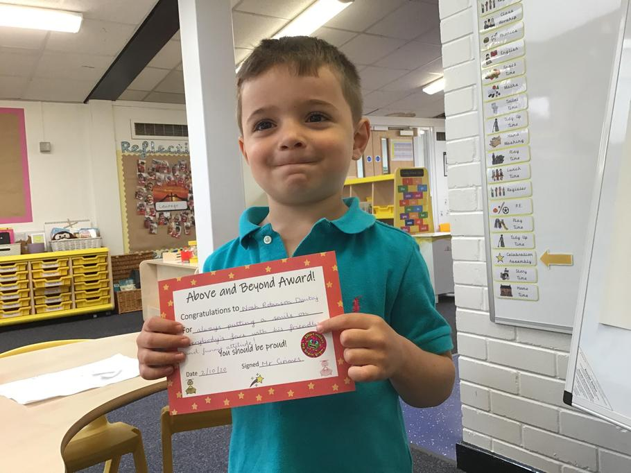 02.10.20 - Well done Noah for always bringing a positive attitude to school!