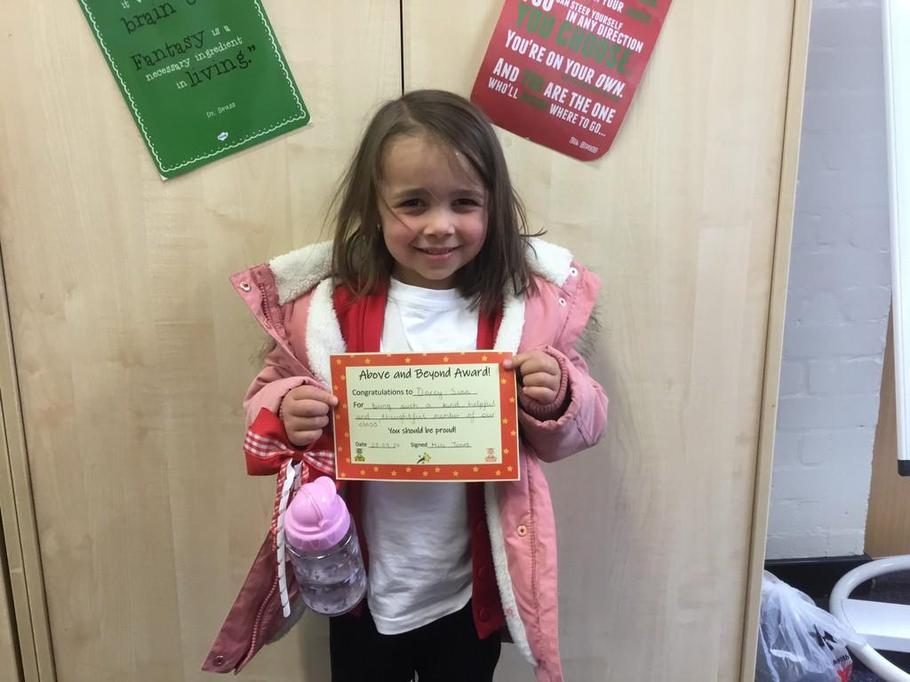 Well done Darcy-Sian for being a super helpful and thoughtful member of class!