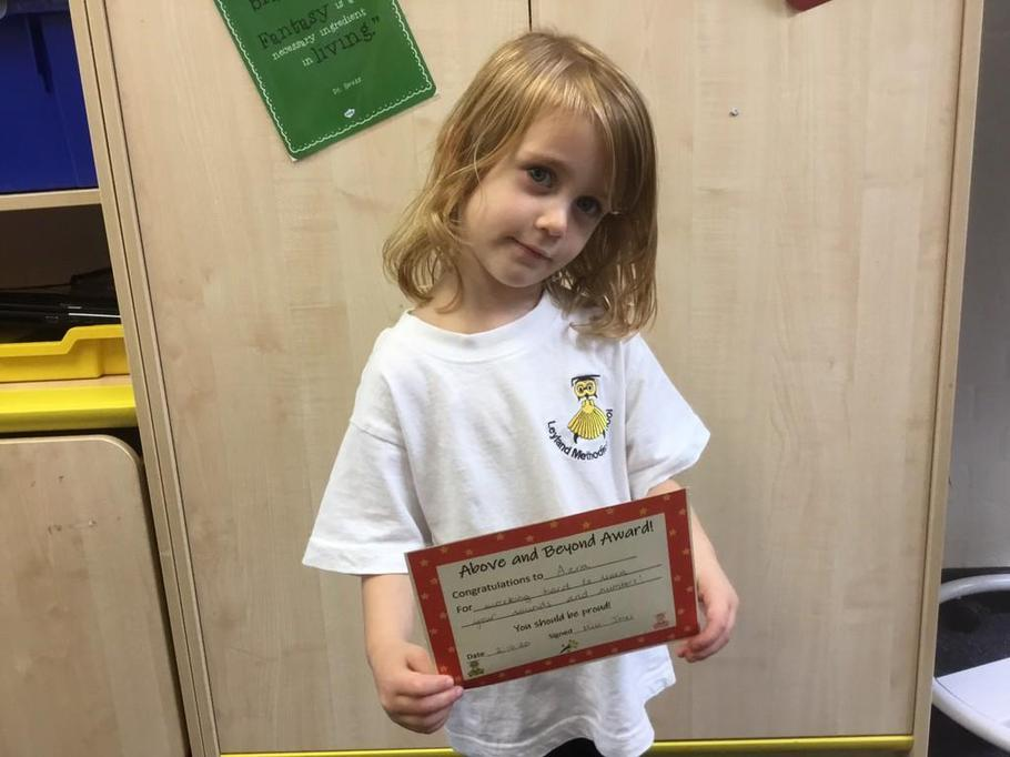 Well done Azra for working so hard on your letter and number formation!