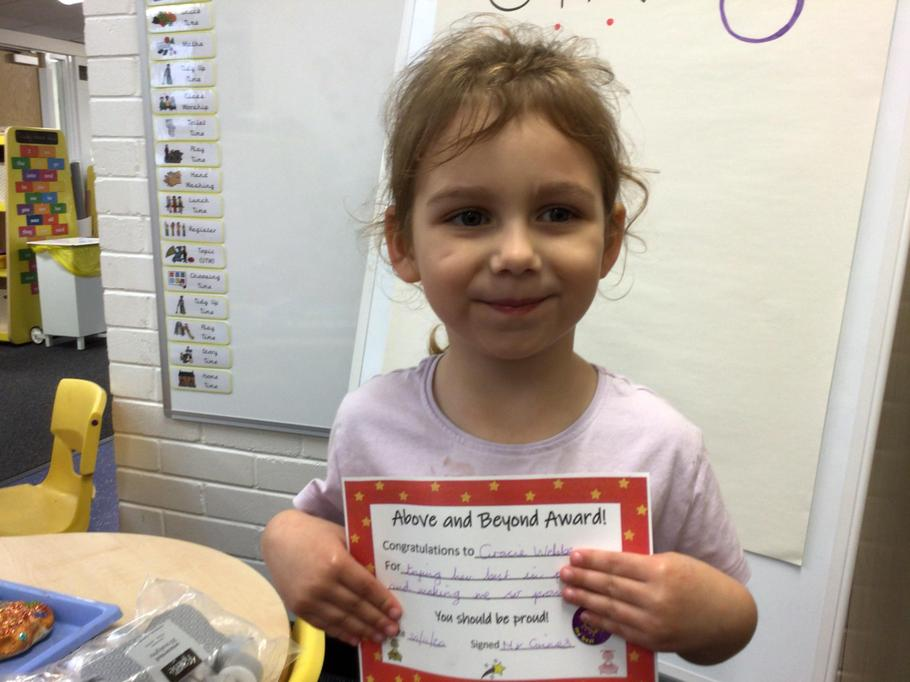 20.11.20 - Well done Gracie for some fantastic work in our phonics lessons!