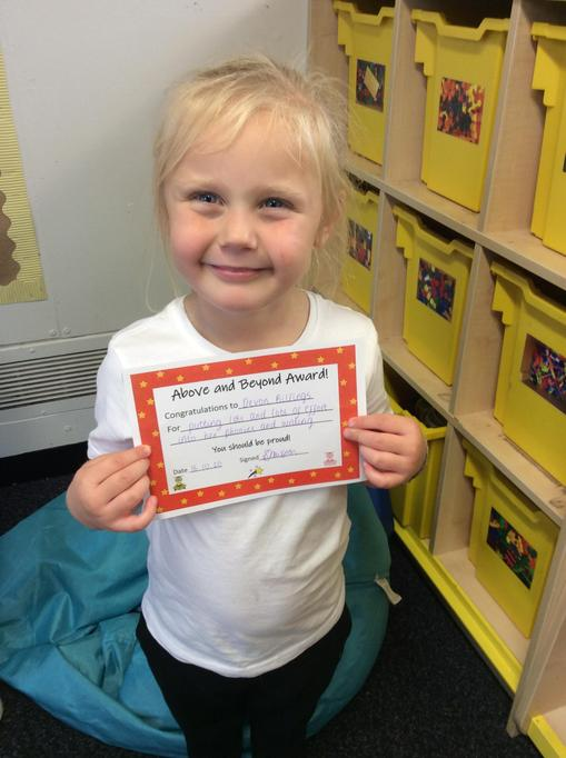 16.10.20 - Well done Devon for putting so much effort into her phonics learning!