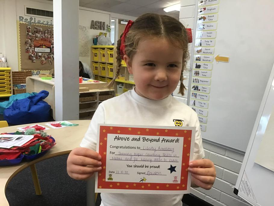 23.10.20 - Well done Liberty for fantastic counting skills and helping others learn!