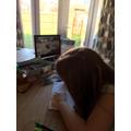 Lauren having a virtual tour of Chester Zoo