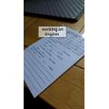 Jack working on English.