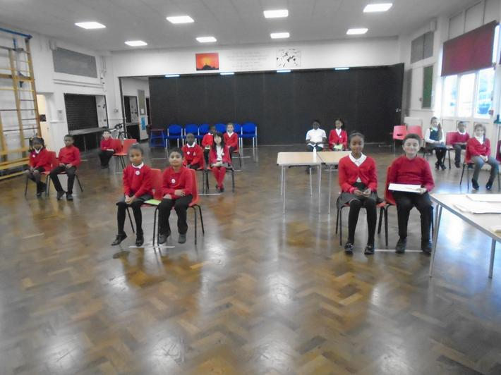 Our new, socially-distanced School Council