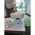 weighing the butter