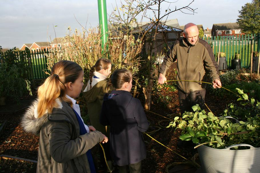 Mr Hickling showed us how to weave willow
