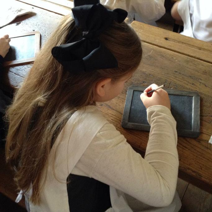 Using a slate for handwriting
