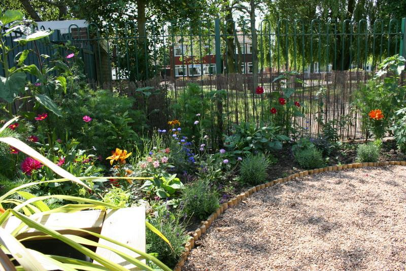 The garden grew very well in the first summer
