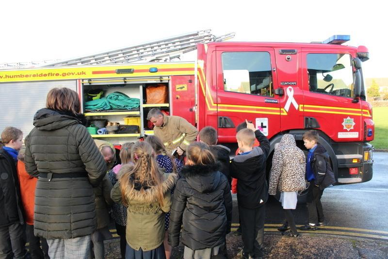 They brought a fire engine for Year 3