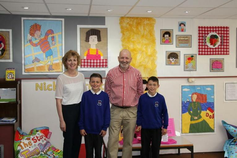 Nick with Miss Laidlaw, Jack and Jake.