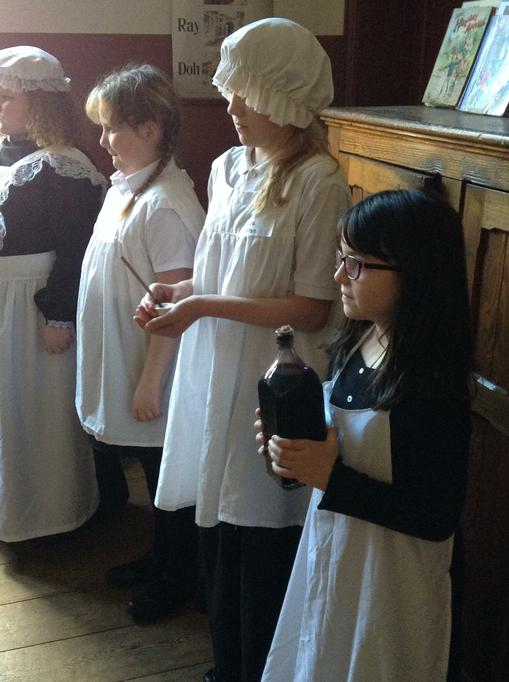The class experienced life in a Victorian school