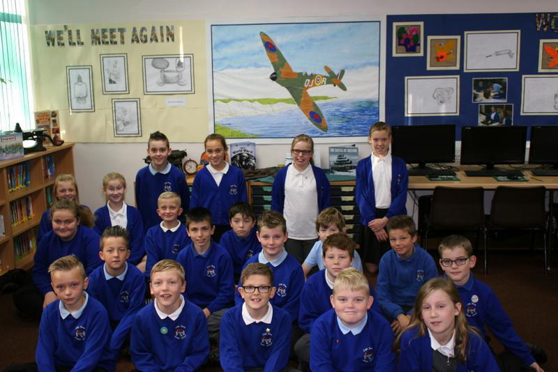 Class AL with their Spitfire painting