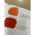 Naming our colours, 'Spray Tan' was a favourite!