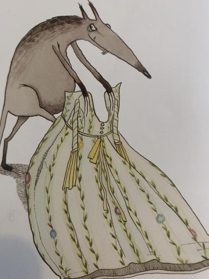 The dress belonging to Grandma.