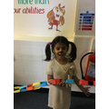 Aleena the camel in paper chains