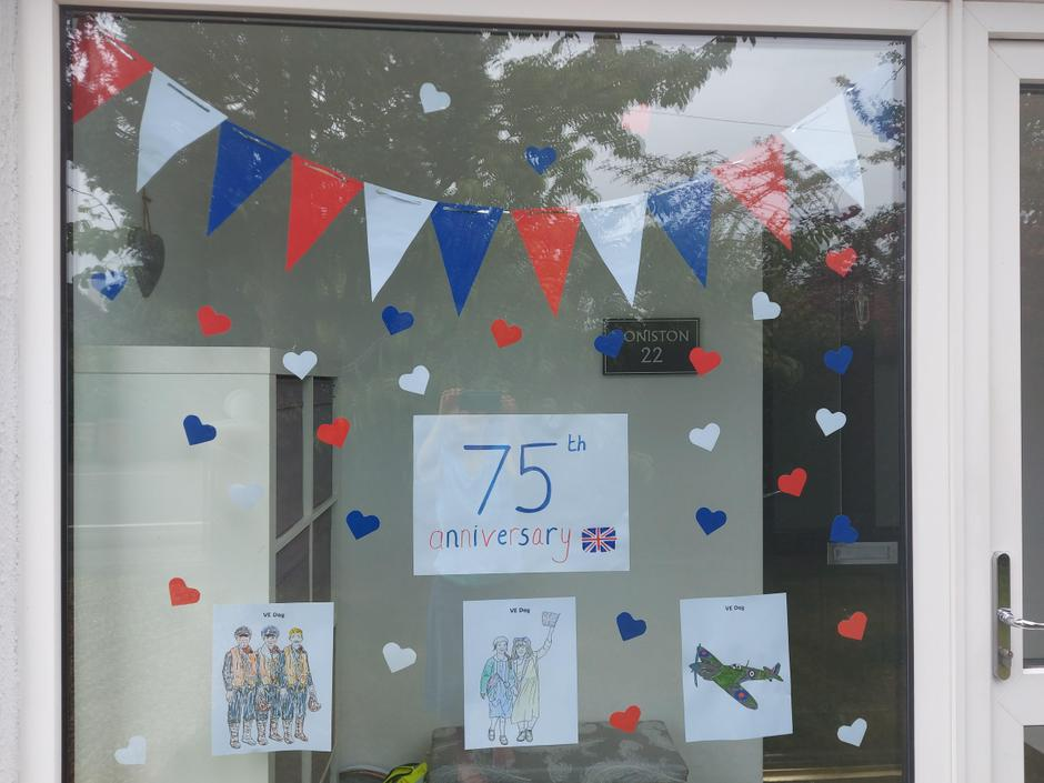 Cordie's VE Day decorations