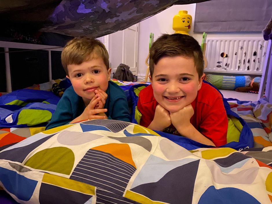 Indoor camping!