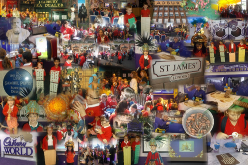 Cadbury World Collage