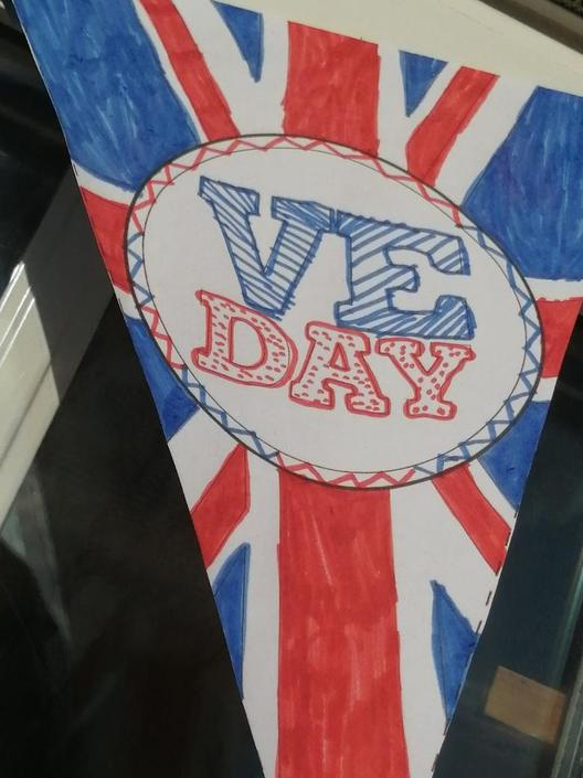 Isabel's homemade bunting