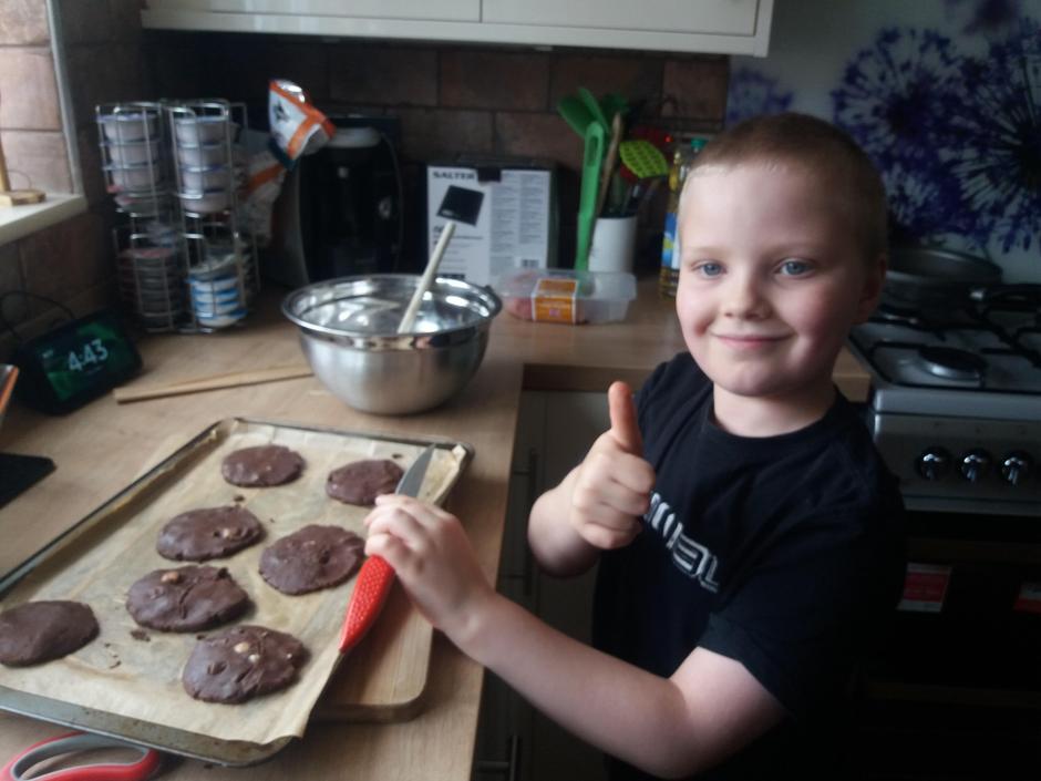 Aiden's cookies were a success!