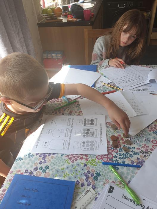 Luca working hard on measurement (money)