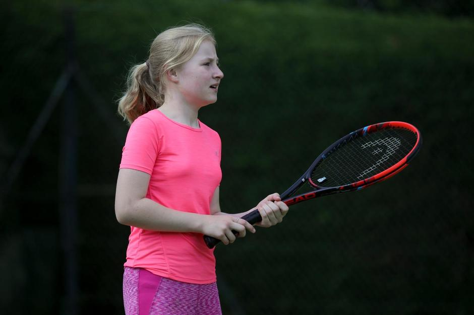 Isabel is pleased to be back playing tennis