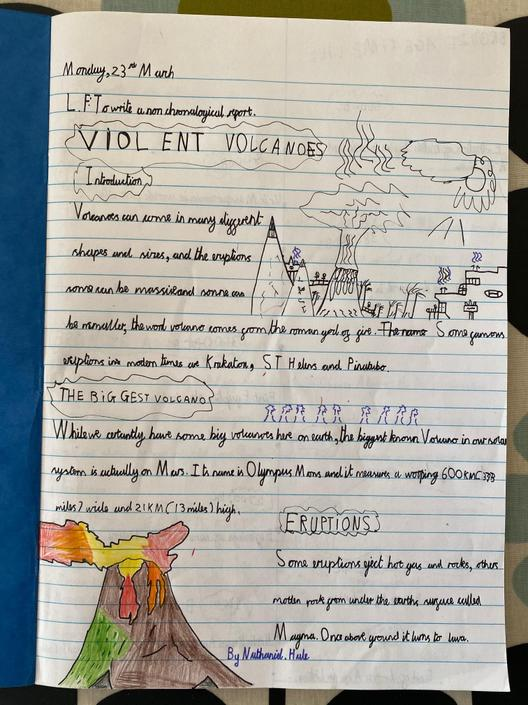 Violent Volcanoes by Nathaniel